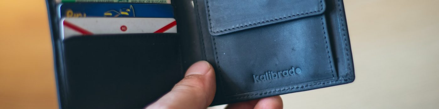 Wallet with Credit Cards in it